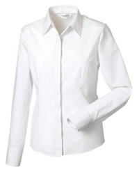 Russell Collection Ladies Long Sleeve Poplin Shirt