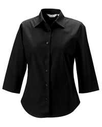 Russell Collection Lady Three Quarter Sleeve Shirt