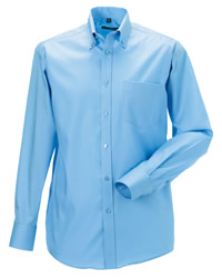 Russell Collection Mens Long Sleeve N.Iron Shirt