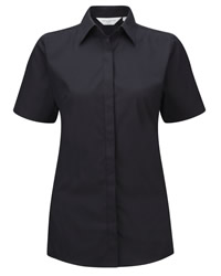 Russell Collection Lady Short Sleeve Stretch Shirt