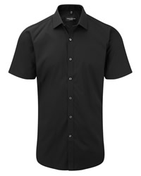 Russell Collection Mens Short Sleeve Stretch Shirt