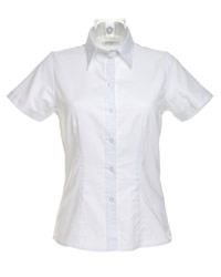 Kustom Kit Ladies Pinpoint Short Sleeve Shirt