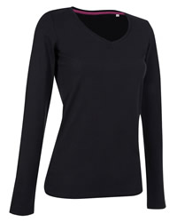 Stars Claire V Neck Long Sleeve T-Shirt
