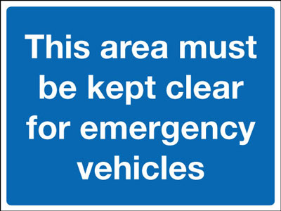 Keep clear signs - 450 x 600 mm this area must be kept clear CLASS 2 reflective 3 mm aluminium signs.