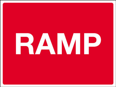 Speed ramp signs 450 x 600 mm ramp CLASS 2 reflective 3 mm aluminium signs.