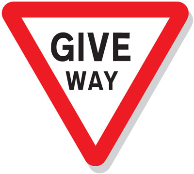 Reflective Road traffic signs - 750 x 845 give way class 1 reflective 3 mm aluminium signs.