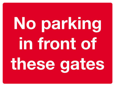 Reflective Road traffic signs - 450 x 600 mm no parking in front of class 1 reflective 3 mm aluminium signs.