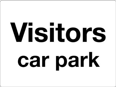 Reflective Road traffic signs - 450 x 600 mm visitors car park class 1 reflective 3 mm aluminium signs.