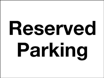 Reflective Road traffic signs - 450 x 600 mm reserved parking class 1 reflective 3 mm aluminium signs.