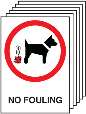 Multi pack safety signs & labels -  A5 no fouling self adhesive vinyl labels 6 pack.