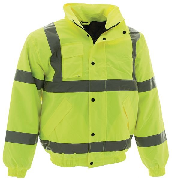 High Vis Bomber Jacket L Yellow  Jackets