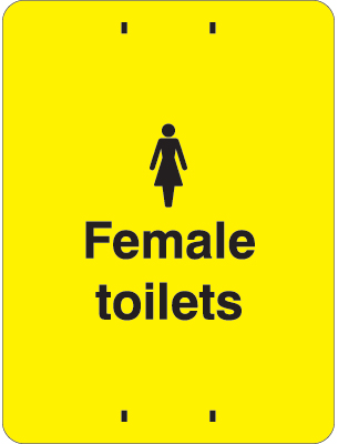 400 x 300 mm female toilets