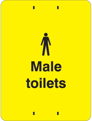 400 x 300 mm male toilets