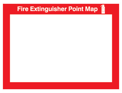 240 x 327 mm fire extinguisher point map
