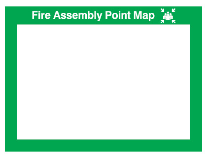 240 x 327 mm fire assembly point map