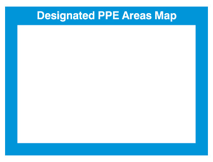 240 x 327 mm designed ppe areas map