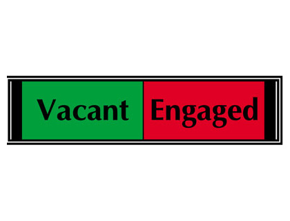 25 x 200 mm vacant / engaged slider sign