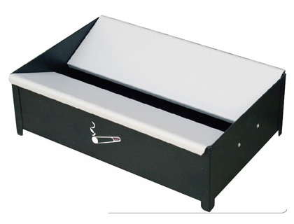 floor ashtray cigarette bin h105 x 337 x 230 mm
