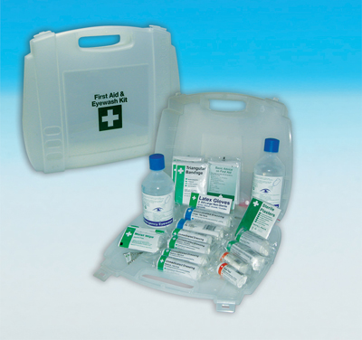 evolution first aid and eye wash cabinet