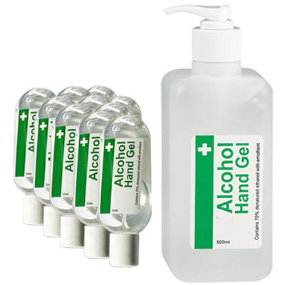 alcohol hand gel pack 10 (free dispenser)