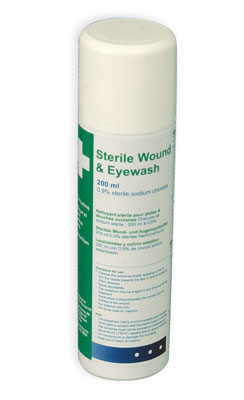 sterile wound & eyewash spray