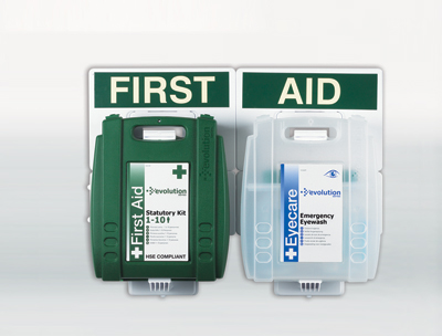 1 10 person eyewash & first aid point