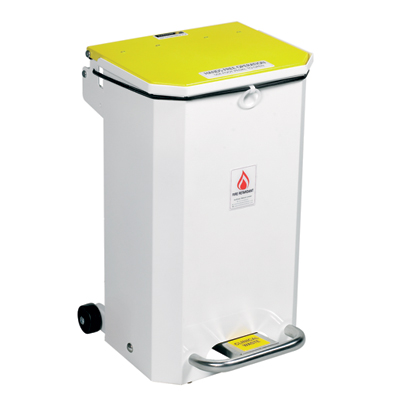 hands free bin white 20 litres