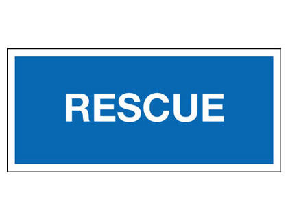 45 x 135mm rescue identification badge