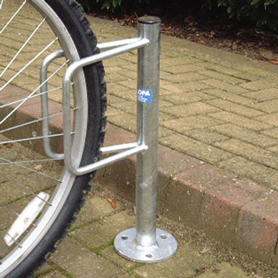 single sided ground fixed bicycle holder