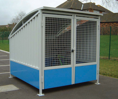 cycle locker with mesh sides