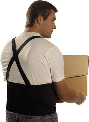 back support belt with braces large