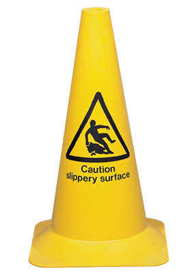 500 mm janitorial cone slippery surface