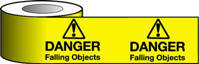 Tapes & signs 75 x 100 mm danger falling objects