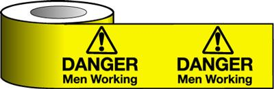 Tapes & signs 75 x 100 mm danger men working