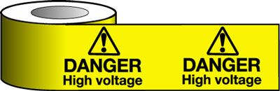 Tapes & signs 150 x 100 mm danger high voltage