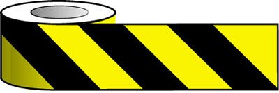 Tapes & signs 75 x 100 mm black & yellow cheveron