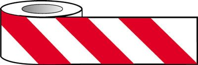 Tapes & signs 75 x 100 mm red white barrier warning tape