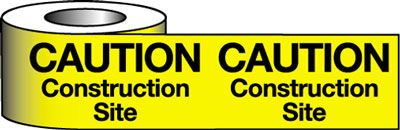 Tapes & signs 75 x 100 mm caution construction site