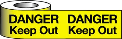 Tapes & signs 75 x 100 mm danger keep out