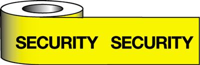 Tapes & signs 75 x 100 mm security barrier warning tape