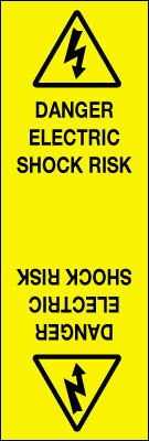 90 x 30 danger electric shock risk roll of 250