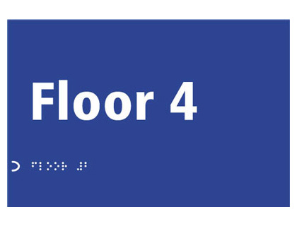150 x 225 mm floor 4 sign