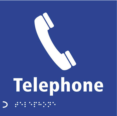 150 x 150 mm telephone graphic