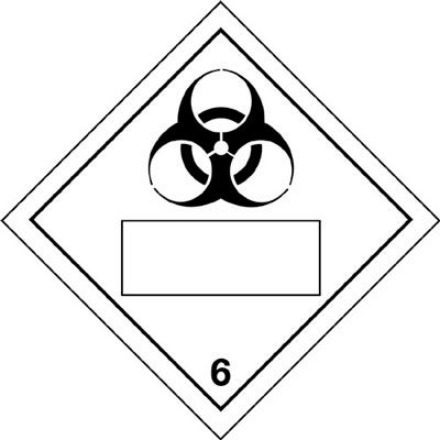 Hazard Warning Diamond Placard Placards