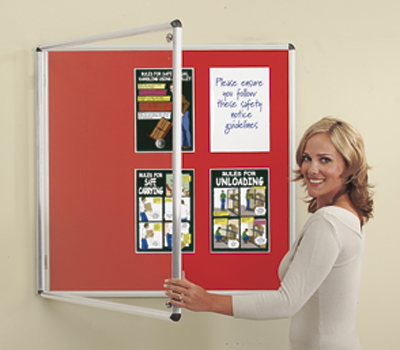 Notice boards - 600 x 900 mm green resist-a-flame notice single door