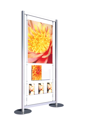 freestanding A1 poster with dispensers