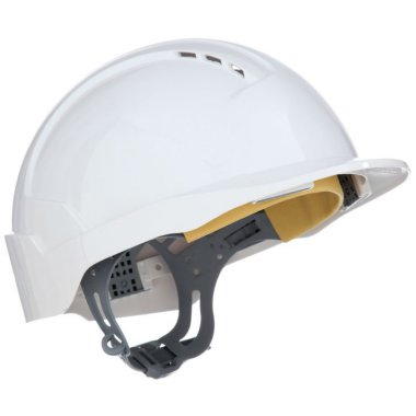 Evolite Vented Slip Ratchet Helmet White Helmets
