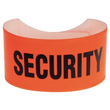 Fluorescent Pvc Standard Orange Armband 460 x 75 mm Security Armbands