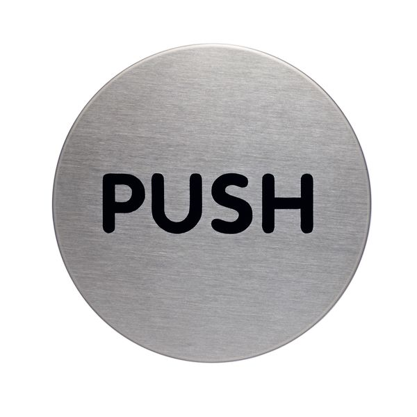 picto door sign push