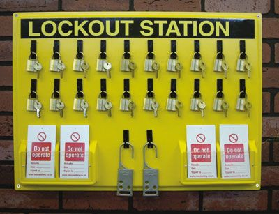 Lockout kits - lock out station 280 x 355 mm board only